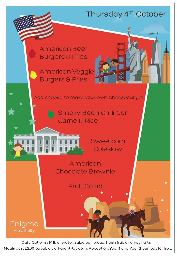 American menu 4th october 2018 bw