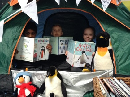 Pop-up libraries make reading exciting