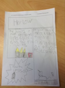 Harlow Writing Year 1