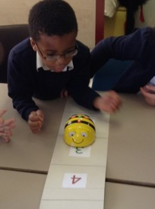 Write simple algorithms to programme the Bee bots. (3)