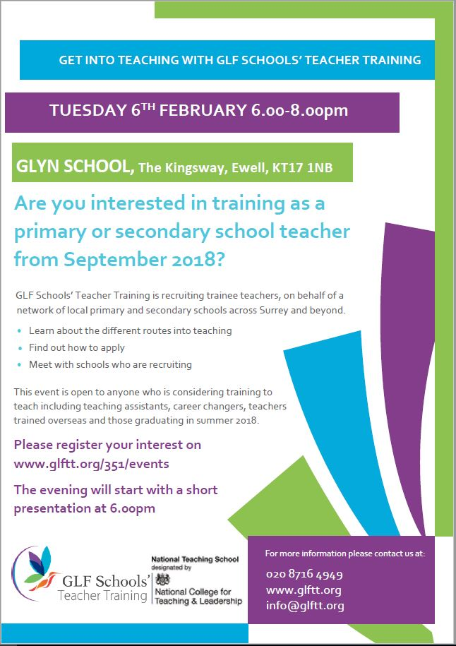 Get into teaching 6th feb
