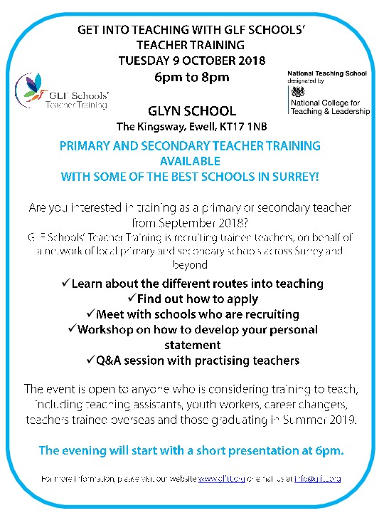 Get Into Teaching 9 October 2018
