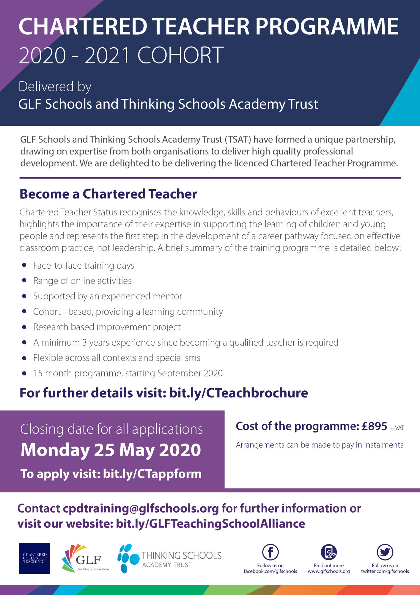 Updated Version May2020 Change of Date GLF Chartered Teacher Programme   TWITTER