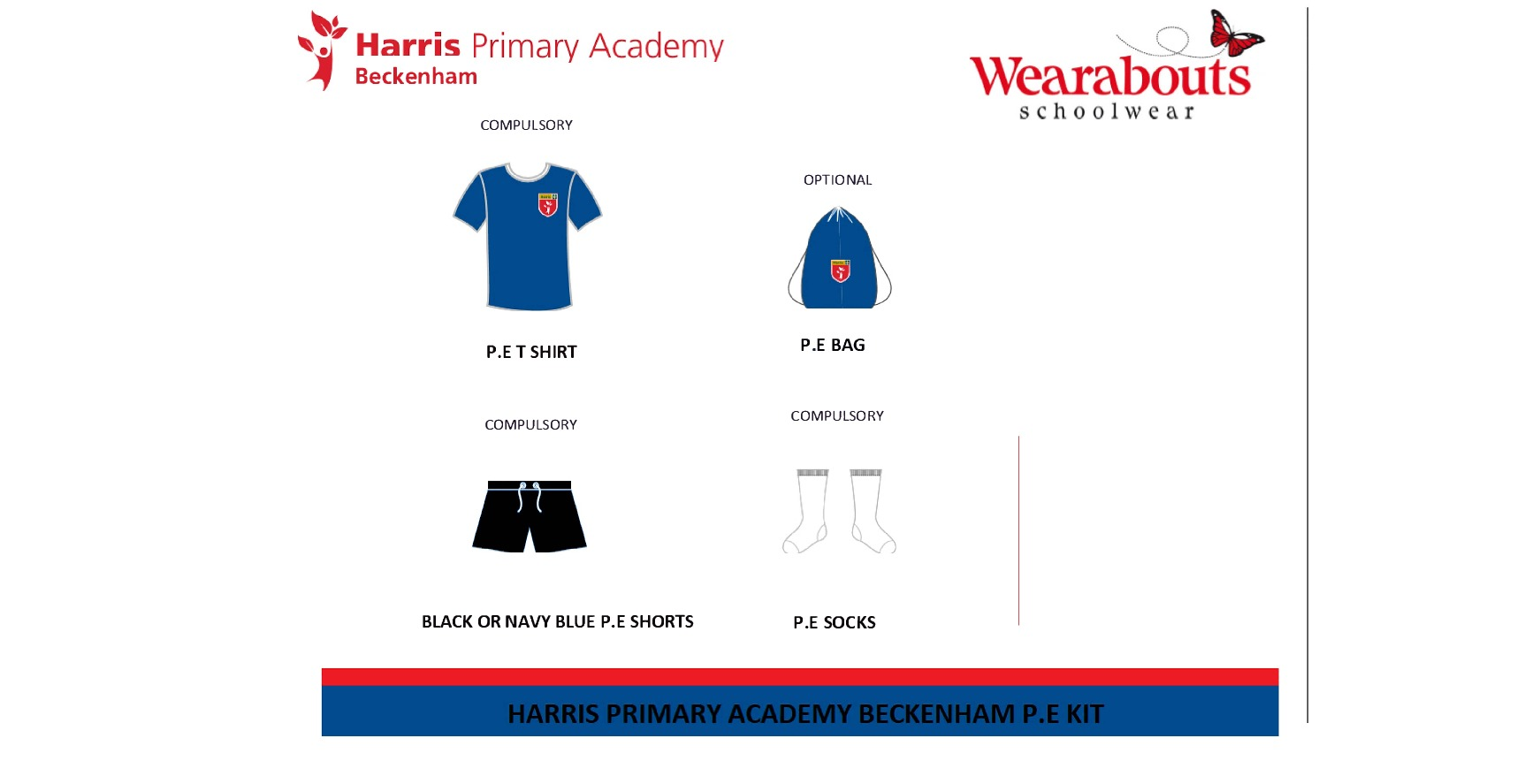 Harris primary beckenham pe kit