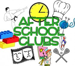After School Club lists for Autumn Term available Tuesday 3rd November