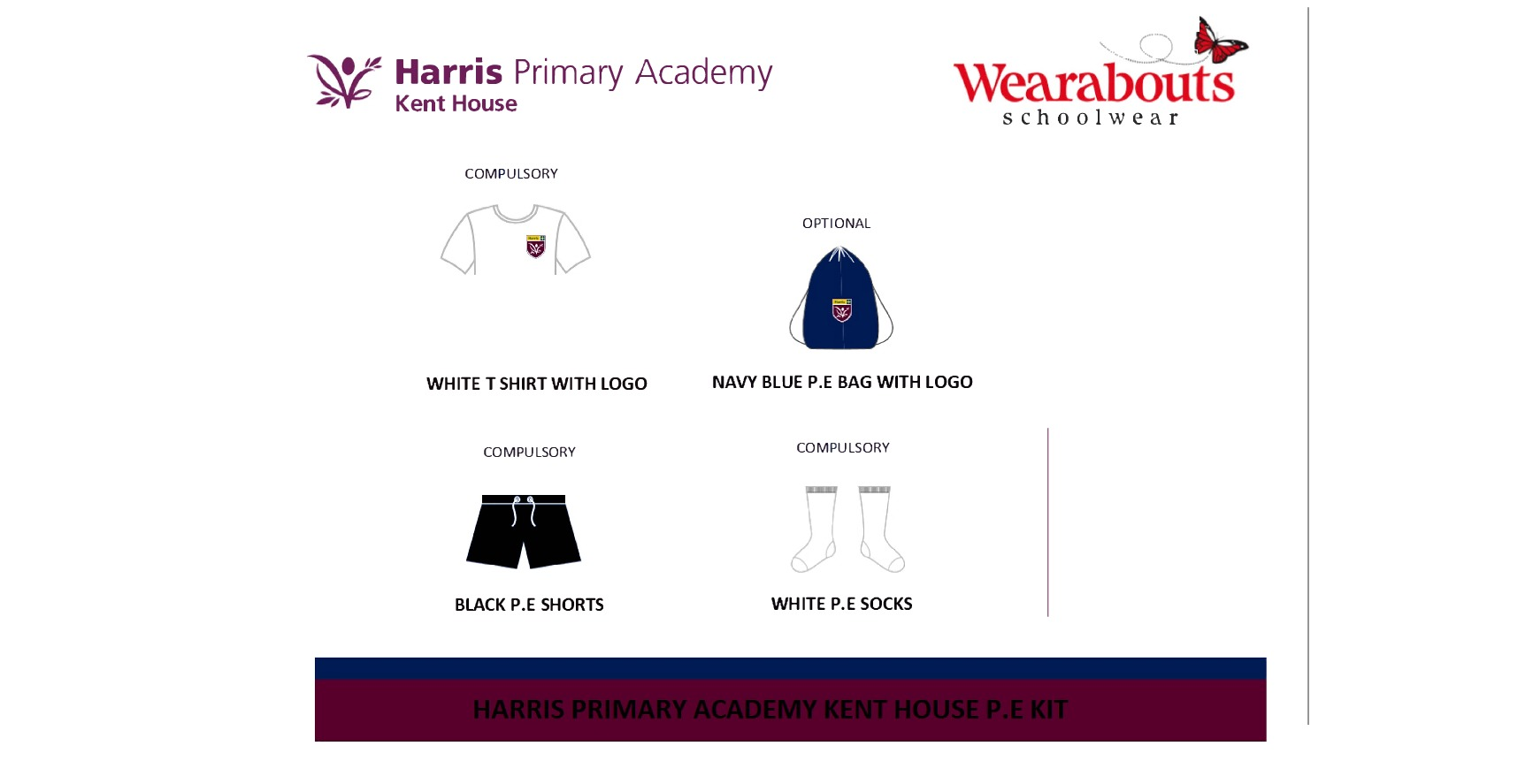 Harris primary kent house pe kit