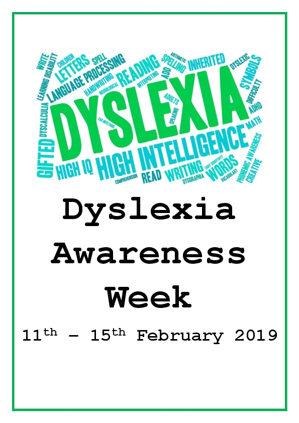 Dyslexia awareness week  poster