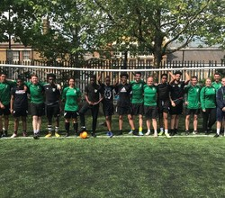 Staff take on Students on the Football Pitch