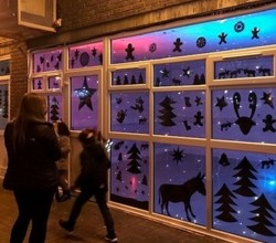 Students Design Christmas Windows for Doddington Estate