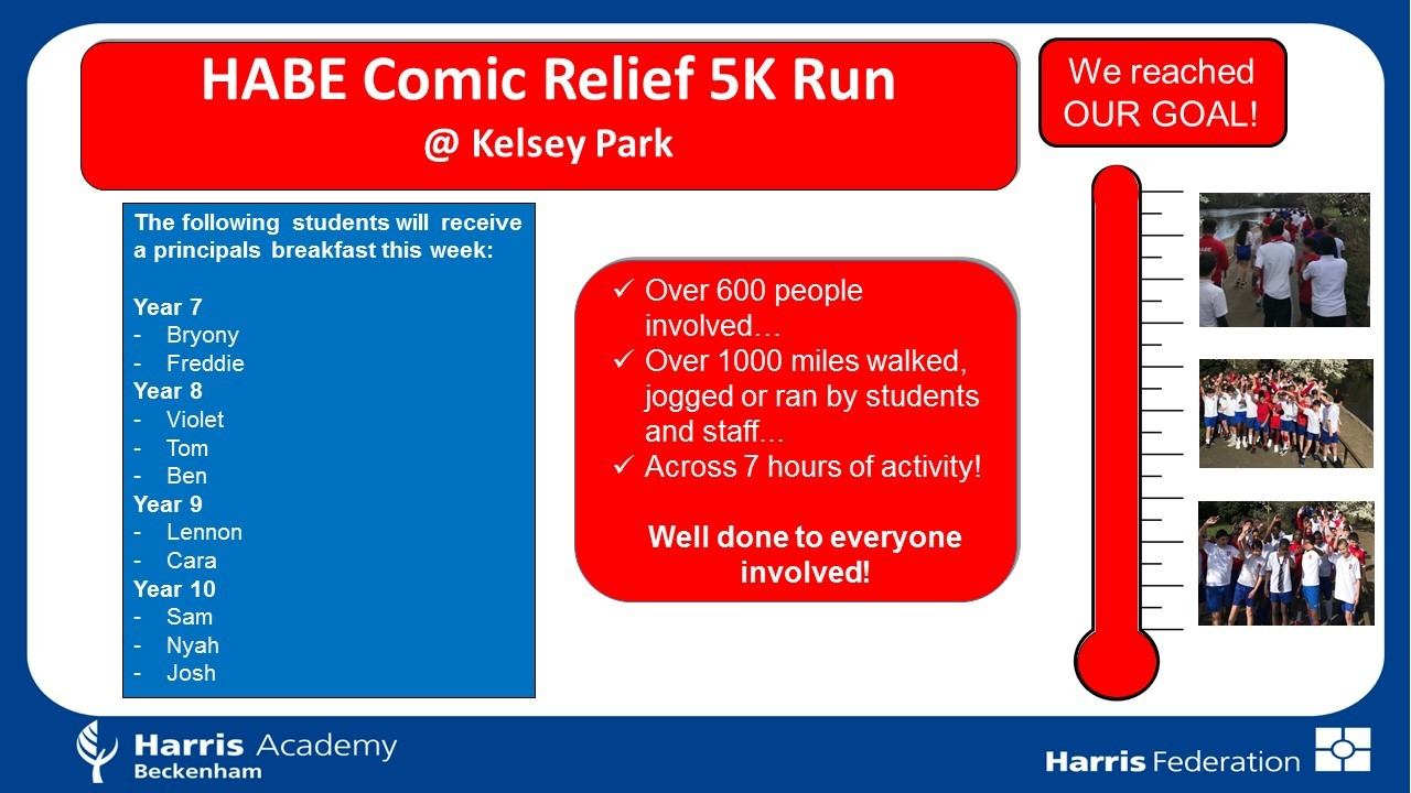 Comic Relief Reached Goal   Mar 2019