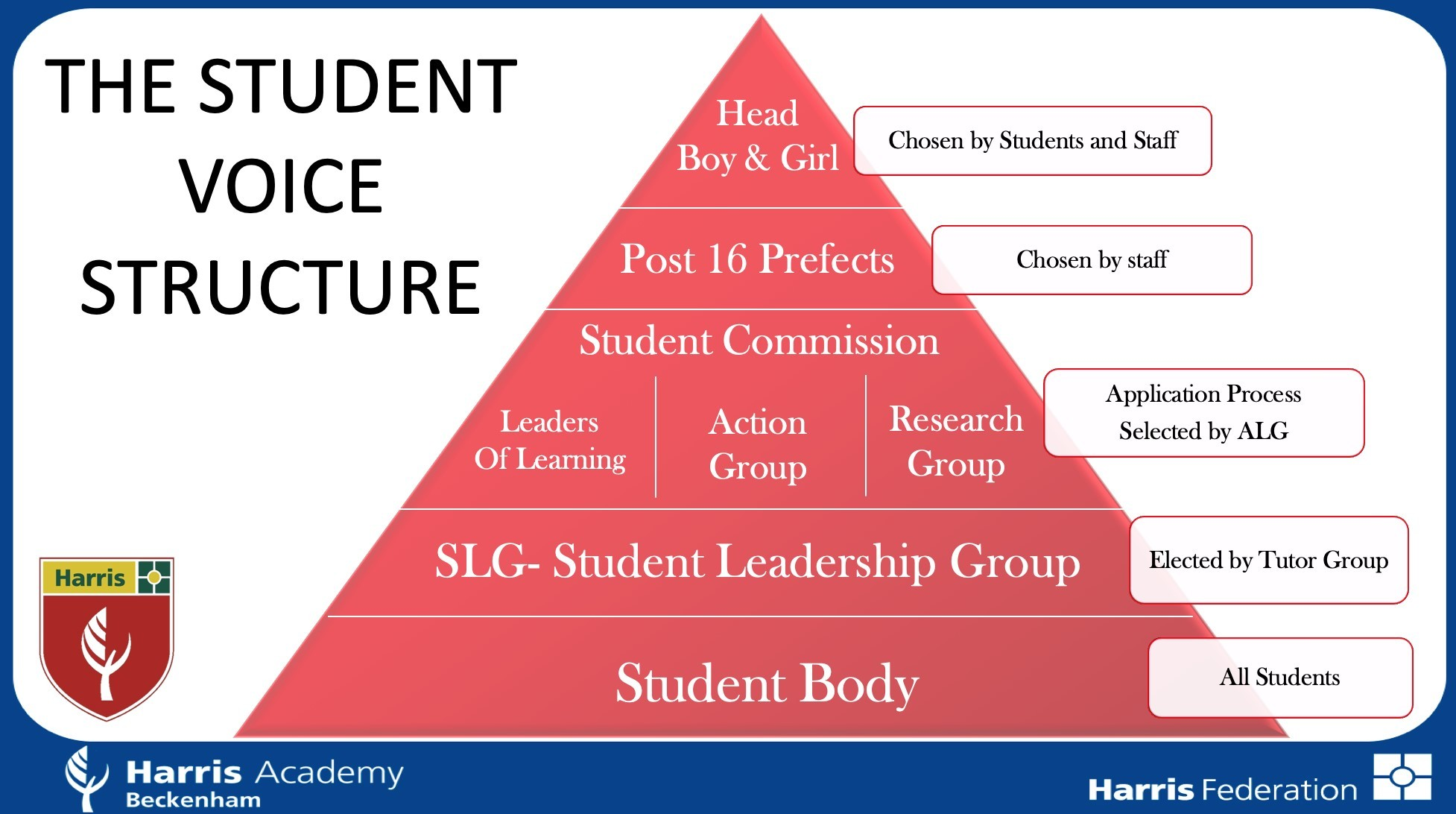 Student voice table of leadership