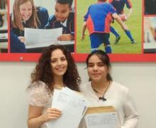 A Level Results photos 2020 Ceyda and Pricilla