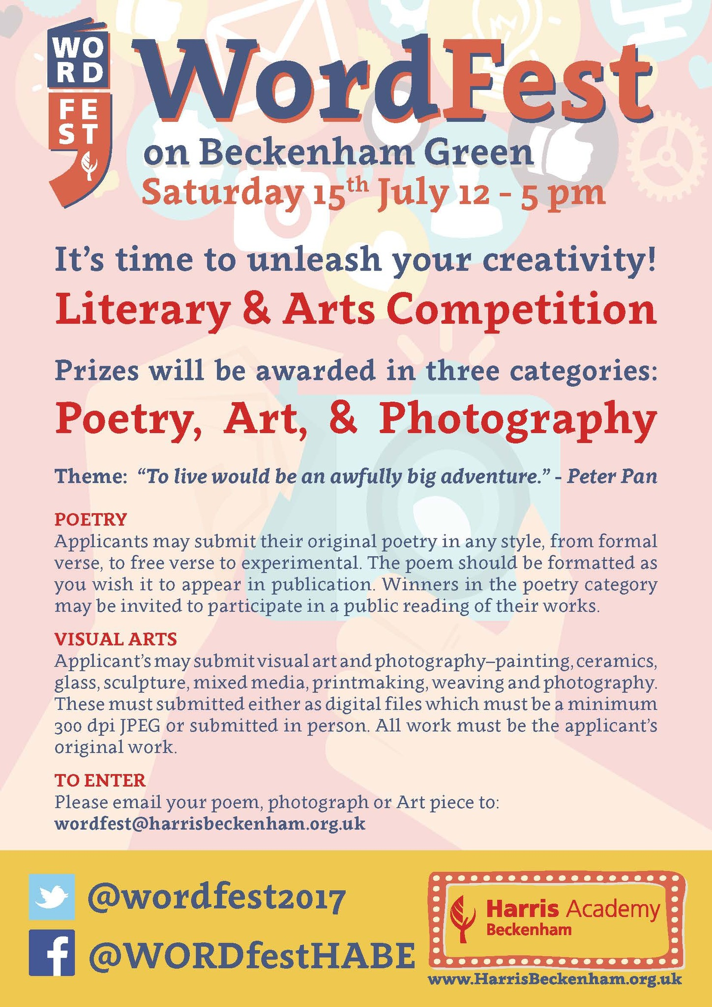 Word Fest 2017 Arts Comp flyer