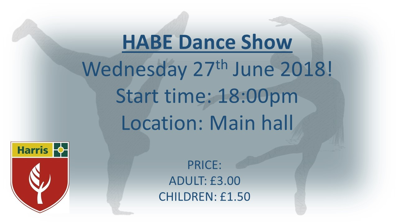 Dance Show Tickets   2018