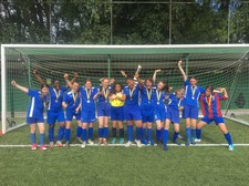 Y7 girls football team winners of fed cup 2019