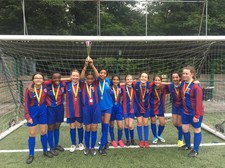 Y8 girls football team winners of fed cup 2019