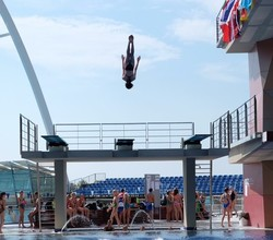 Diver Andrea , Year 8, Aims for Olympics