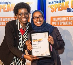 Basmala Shines at Jack Petchey 'Speak Out' Challenge