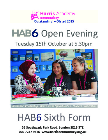 HAB6 Open Day Portrait Advert