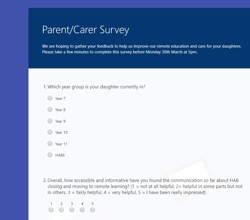 Parent/Carer Survey - Do You Have 5 Minutes?