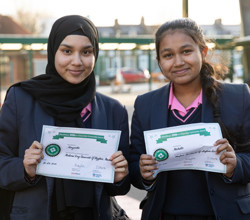 Citizenship Awards for Four HAB Girls