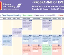 Literacy for Learning - Secondary School Virtual Conference - Sign up Here