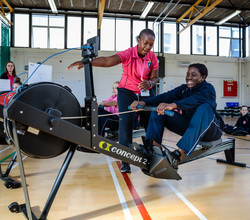 HAB Girls Get a Taste for Indoor Rowing