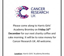 Charity coffee and cake morning - 16th December