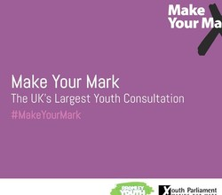 UK Youth Parliament - Make Your Mark 2018