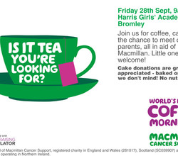 Macmillan Coffee Morning - 28th September