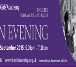 Open Evening September 2015