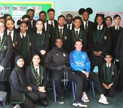 Crystal Palace Legend Wilfred Zaha Inspires Student Presentations