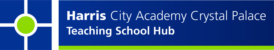 Harris City Academy Teaching School Hub Logo CMYK