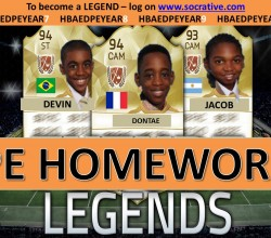 PE Homework Legends of the Week