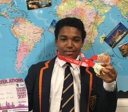 Kaydon Wins London Youth Games Medal