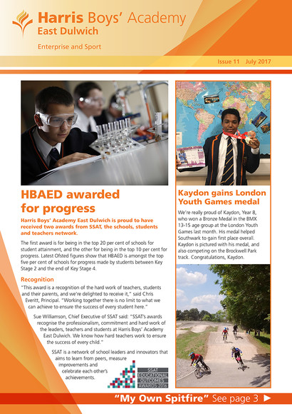 HBAED newsletter cover July 2017