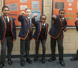 First Boys Celebrate 1000 Positive Points
