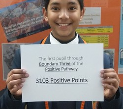Rewards - First pupil Through Boundary 3 of our Positive Pathway