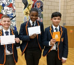 Outstanding Effort, Attainment and Progress - Boys Honoured with Certificates