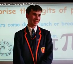 William Remembers Pi to 153 Digits