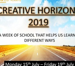 Creative Horizons Week, 15th-19th July 2019 - What's Happening?