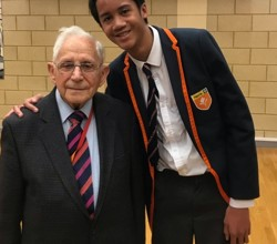Holocaust Survivor Harry Olmer Visits HBAED