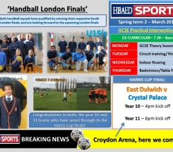 Sports Bulletin - Tuesday 14 April