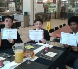 Breakfast reward winners - 15 May 2015