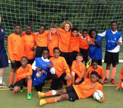 Year 7 football team beat Harris Academy Peckham