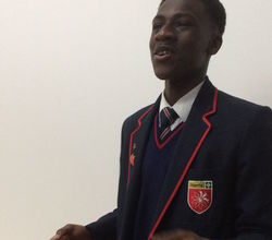 Isaac Competes in Public Speaking Competition