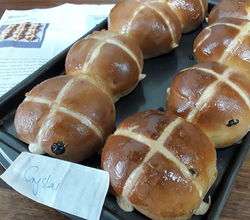 Hot Cross Buns Baked by Year 9 for Food Preparation Display