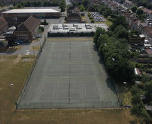 Outdoor courts aerial view