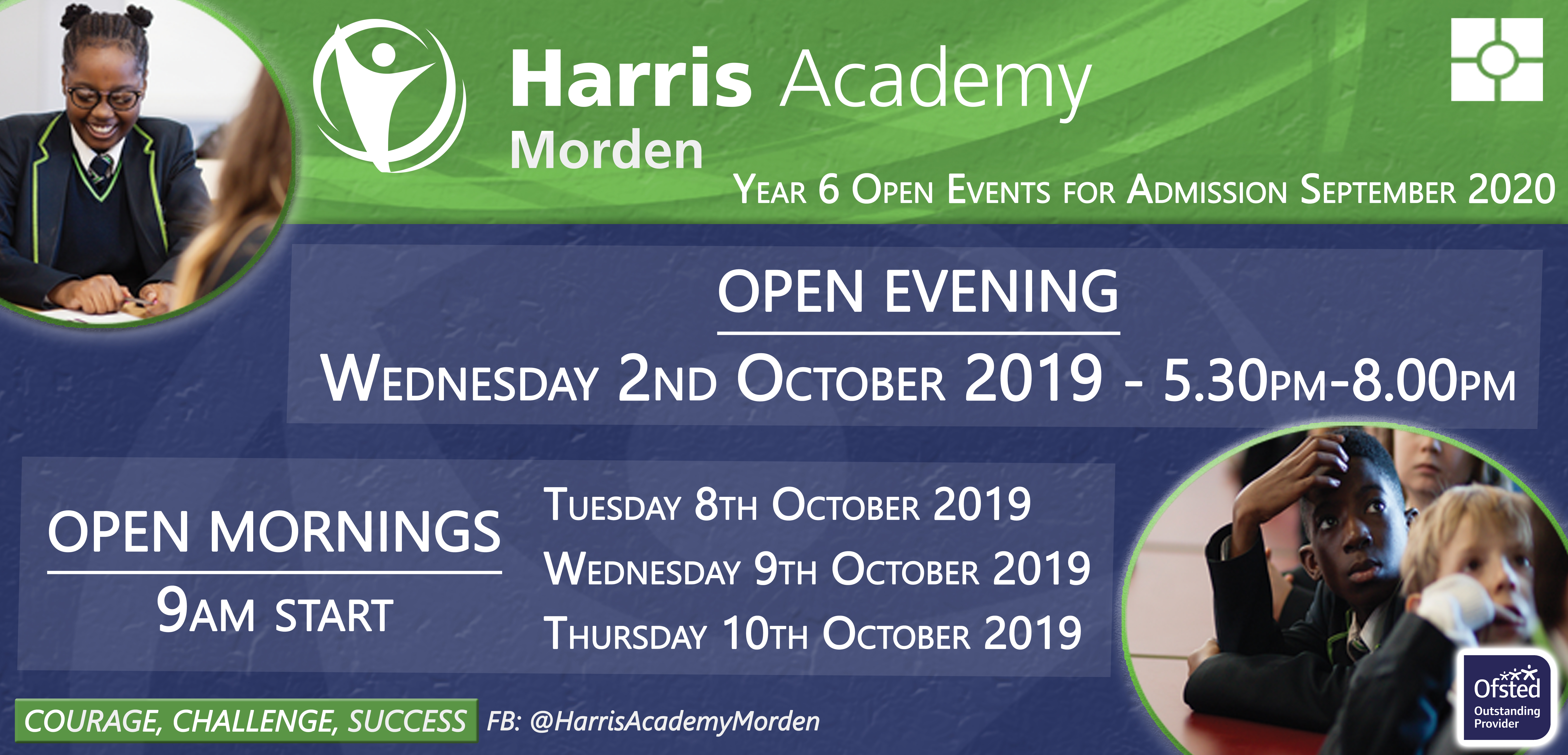 Open evening web banner