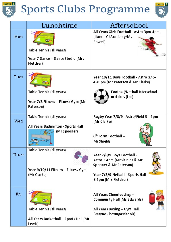 2019 20 Sports Clubs WINTER updated October